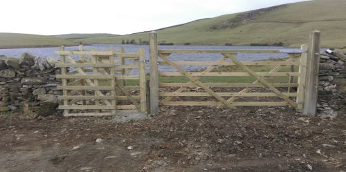 New gate at Knottallow Tarn