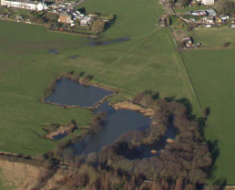 Aerial Photo of Sandhall Ponds