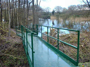 Sandhall Ponds Disabled Bridge front view