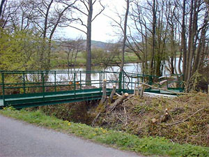 Sandhall Ponds Disabled Bridge side view
