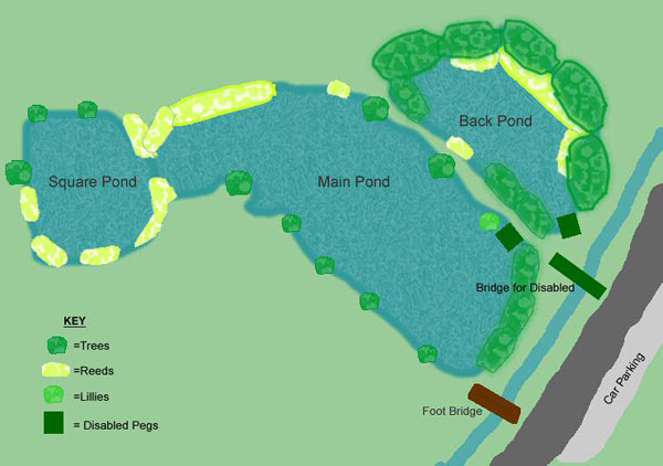 Map of Sandhall Ponds